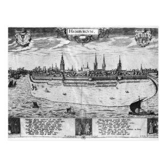 Cartão Postal Vista de Hamburgo