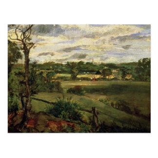 Cartão Postal Vista de Highgate da charneca de Hampstead, c.1834