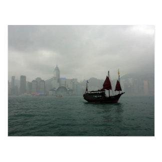 Cartão Postal Vista de Kowloon para Chai macilento, Hong Kong