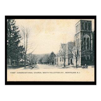 Cartão Postal Vista de Montclair, vintage 1906 de NJ