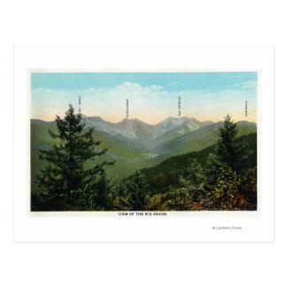 Cartão Postal Vista de Mt. Marcy, Saddleback, Sawtooth