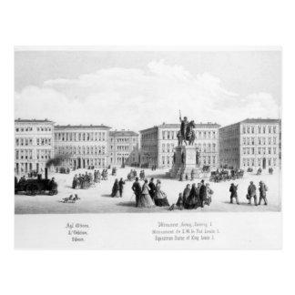 Cartão Postal Vista de Munich, 1869