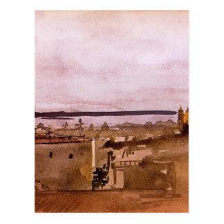 Cartão Postal Vista de Nápoles por Edgar Degas