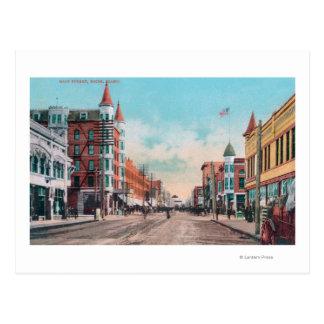 Cartão Postal Vista de StreetBoise principal, identificação