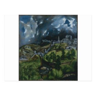 Cartão Postal Vista de Toledo por El Greco
