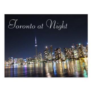 Cartão Postal Vista de Toronto na noite