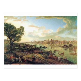 Cartão Postal Vista de Varsóvia de Praga por Bernardo Bellotto