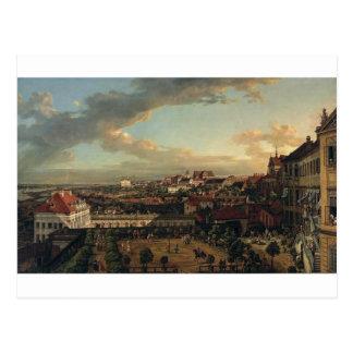 Cartão Postal Vista de Varsóvia do terraço do Castl real