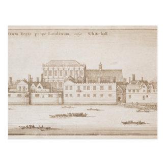 Cartão Postal Vista de Whitehall, 1645