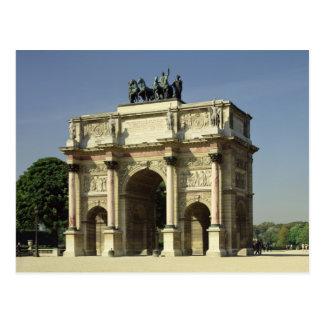 Cartão Postal Vista do Arco do Triunfo du Carrossel