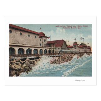 Cartão Postal Vista do auditório, do casino, & da casa do banho