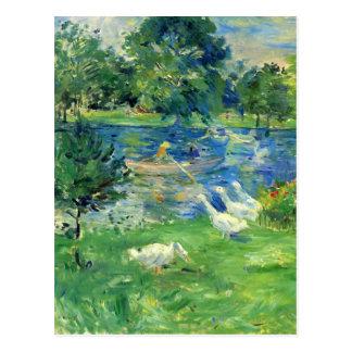 Cartão Postal Vista do Bois de Boulogne por Berthe Morisot