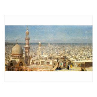 Cartão Postal Vista do Cairo por Jean-Leon Gerome