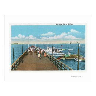 Cartão Postal Vista do cais dos salgueiros de Salem