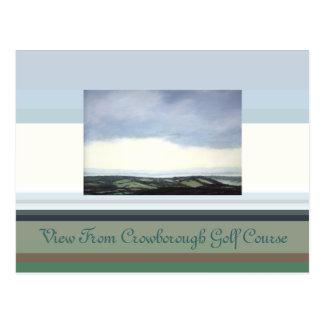 Cartão Postal Vista do campo de golfe de Crowborough