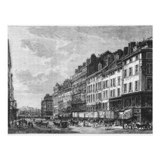Cartão Postal Vista do Canebiere em Marselha