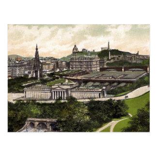 Cartão Postal Vista do castelo de Edimburgo