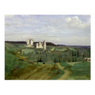Cartão Postal Vista do castelo de Pierrefonds, c.1840-45
