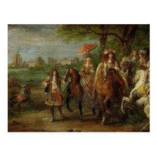 Cartão Postal Vista do castelo de Vincennes
