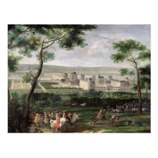 Cartão Postal Vista do castelo de Vincennes, c.1665