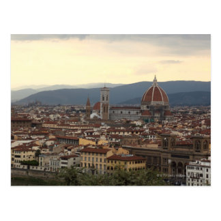 Cartão Postal Vista do domo Santa Maria Del Fiore dentro