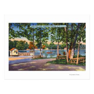 Cartão Postal Vista do lago Saratoga