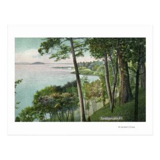 Cartão Postal Vista do lago Saratoga # 2