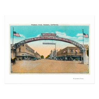 Cartão Postal Vista do Modesto ArchModesto de acolhimento, CA