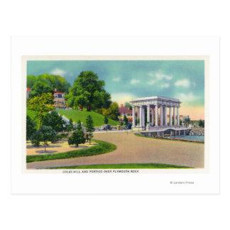 Cartão Postal Vista do monte de Coles e do Portico de Plymouth