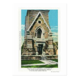 Cartão Postal Vista do monumento da batalha de Saratoga