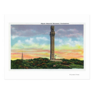 Cartão Postal Vista do monumento do memorial do peregrino de