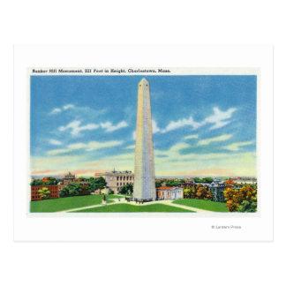 Cartão Postal Vista do monumento do monte de depósito