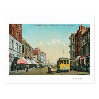 Cartão Postal Vista do norte da 5a rua da rua de F