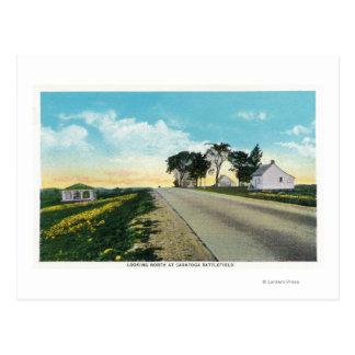 Cartão Postal Vista do norte do campo de batalha de Saratoga