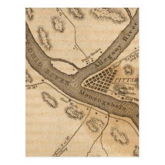 Cartão Postal Vista do país Pittsburg redondo