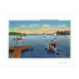 Cartão Postal Vista do porto de Harwichport Wychmere