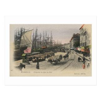 Cartão Postal Vista do porto, Marselha France