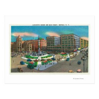 Cartão Postal Vista do quadrado de Lafayette e da rua principal