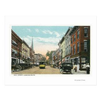 Cartão Postal Vista do sul de Wall Street