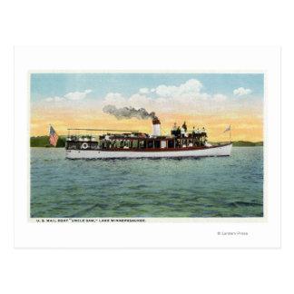 Cartão Postal Vista do tio Sam do barco de correio dos E.U.