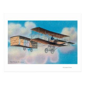 Cartão Postal Vista do Voisin BiplaneFrance