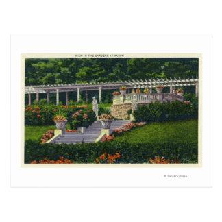 Cartão Postal Vista dos jardins em Yaddo