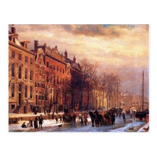 Cartão Postal Vista em Heerengracht em Amsterdão por Cornelis
