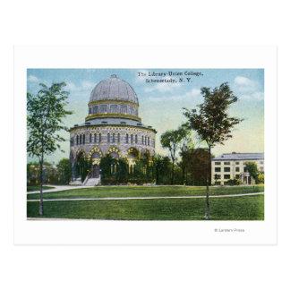 Cartão Postal Vista exterior da biblioteca de faculdade da união