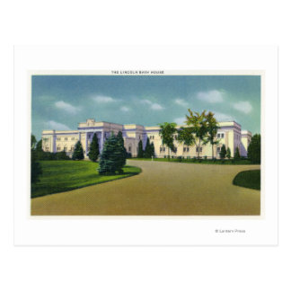 Cartão Postal Vista exterior da casa do banho de Lincoln