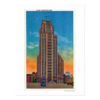Cartão Postal Vista exterior da construção da torre do estado