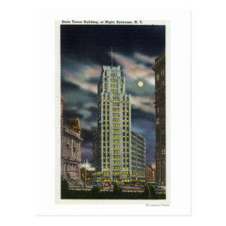 Cartão Postal Vista exterior da construção da torre do estado na