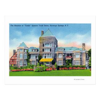 Cartão Postal Vista exterior da mansão de S. Trilha Propriedade