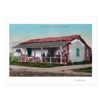 Cartão Postal Vista exterior de um Adobe velho HomeVentura, CA