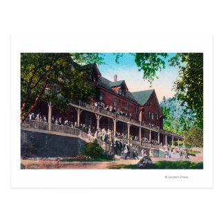 Cartão Postal Vista exterior do portal do EL do hotel